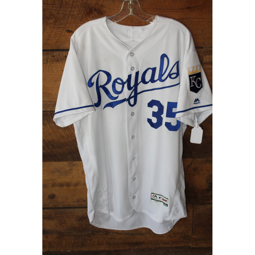 Photo of Game-Used Jersey: Eric Hosmer 124th Career Home Run, 1098th Career Hit, 1099th Career Hit, 546th Career RBI, 547 Career RBI, & 548th Career RBI (Size 46 - TB at KC - 8/29/17)