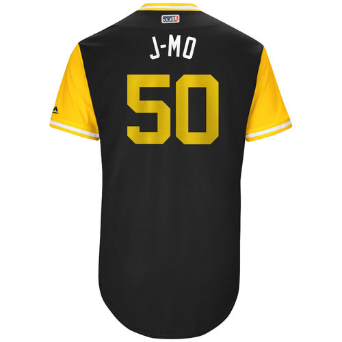 "Photo of Jameson ""J-MO"" Taillon Pittsburgh Pirates Game-Used Players Weekend Jersey"