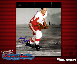 MARCEL PRONOVOST Signed Detroit Red Wings 8 X 10 Photo - 70376