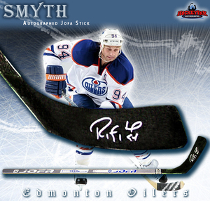 RYAN SMYTH Signed Jofa Player Model Stick - Edmonton Oilers