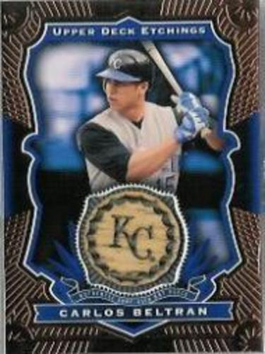 Photo of 2004 Upper Deck Etchings Game Bat Blue #CB Carlos Beltran