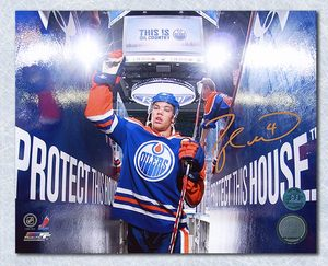 Taylor Hall Edmonton Oilers Autographed Oil Country 16x20 Photo