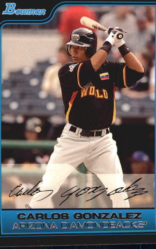 Photo of 2006 Bowman Chrome Draft Future's Game Prospects #43 Carlos Gonzalez