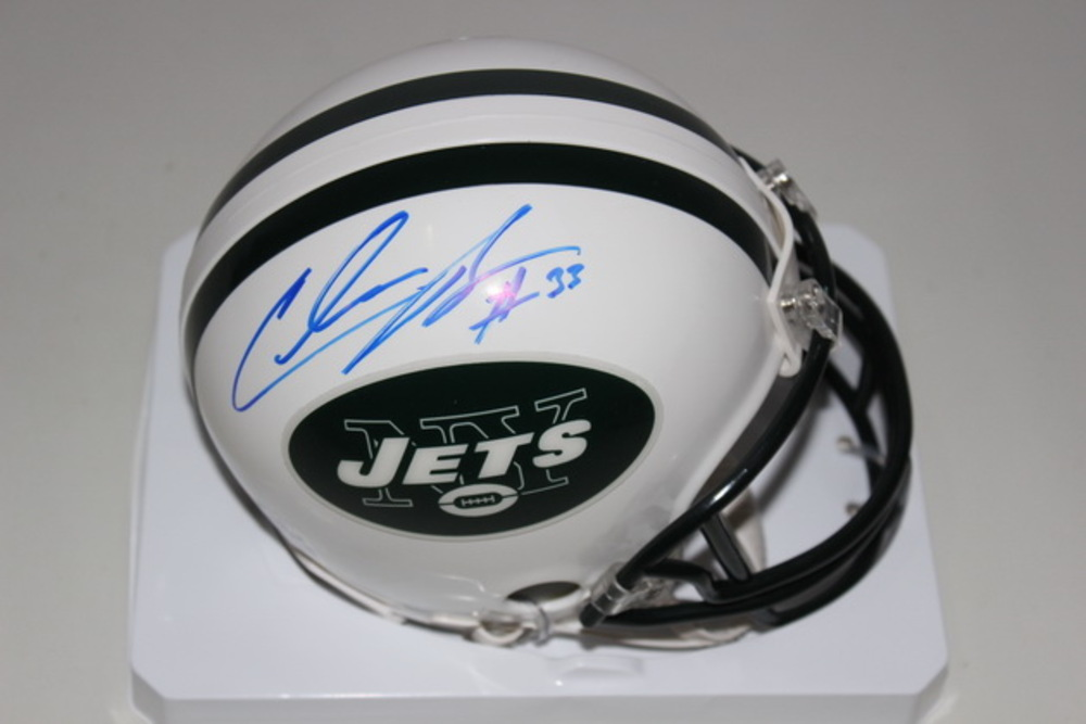 NFL - JETS CHRIS IVORY SIGNED JETS MINI HELMET