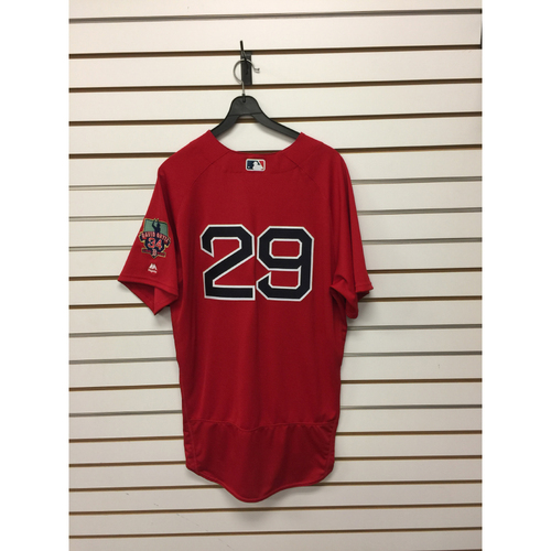 Photo of Brad Ziegler Game-Used September 30, 2016 Home Alternate Jersey with David Ortiz Final Season Patch