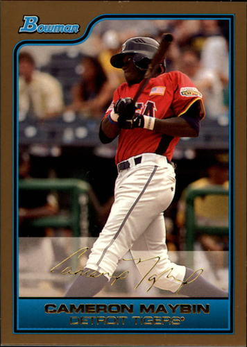 Photo of 2006 Bowman Draft Future's Game Prospects Gold #16 Cameron Maybin -- Astros post-season