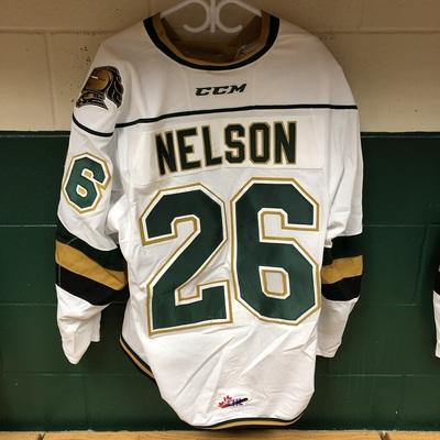 Josh Nelson 2016-2017 White Game Jersey