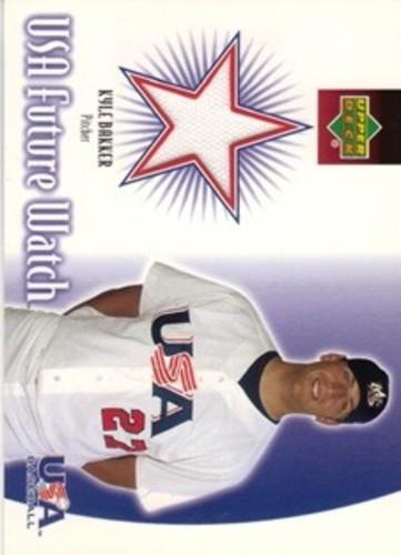 Photo of 2002 Upper Deck Rookie Update USA Future Watch Swatches #KB Kyle Bakker Jersey