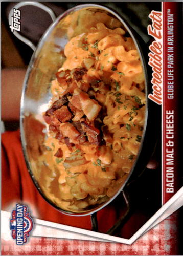 Photo of 2017 Topps Opening Day Incredible Eats #IE15 Bacon Mac & Cheese