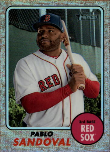 Photo of 2017 Topps Heritage Chrome Refractors #THC716 Pablo Sandoval