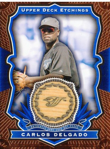 Photo of 2004 Upper Deck Etchings Game Bat Blue #CD Carlos Delgado