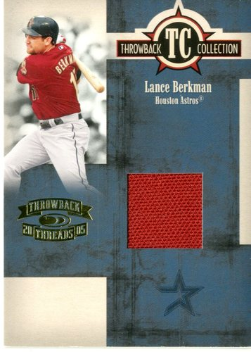 Photo of 2005 Throwback Threads Throwback Collection Material #50 Lance Berkman Jsy/500