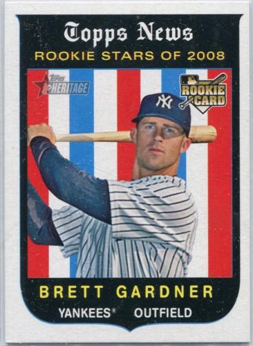 Photo of 2008 Topps Heritage #654 Brett Gardner (RC)