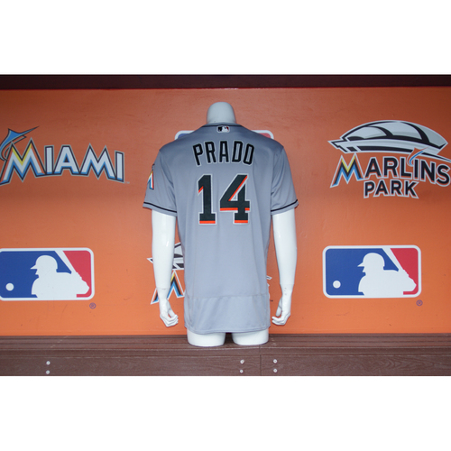 Photo of Martin Prado Jersey Worn During Ichiro's 3,000 MLB Hits Game