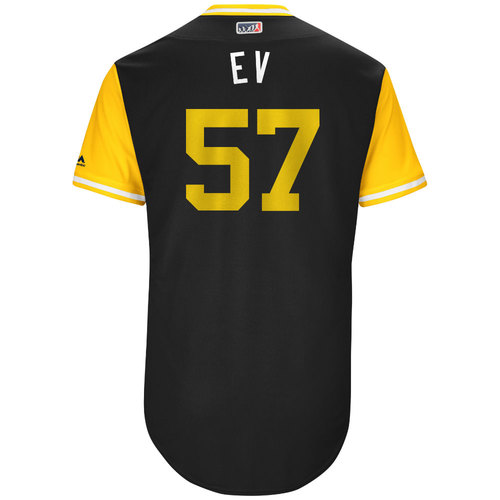 "Photo of Trevor ""EV"" Williams Pittsburgh Pirates Game-Used Players Weekend Jersey"
