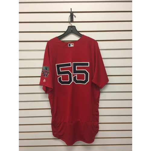 Brian Butterfield Game-Used September 30, 2016 Home Alternate Jersey with David Ortiz Final Season Patch