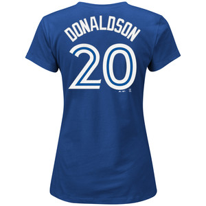Toronto Blue Jays Women's Josh Donaldson Player T-Shirt by Majestic
