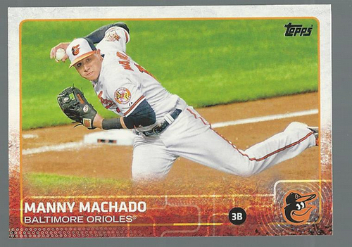 Photo of 2015 Topps #136A Manny Machado