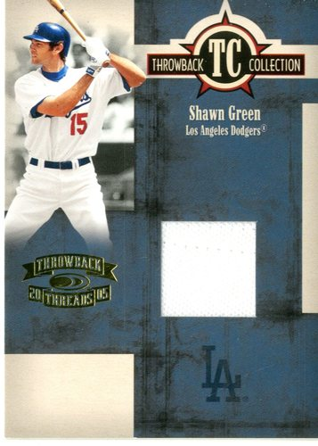 Photo of 2005 Throwback Threads Throwback Collection Material #51 Shawn Green Jsy/500