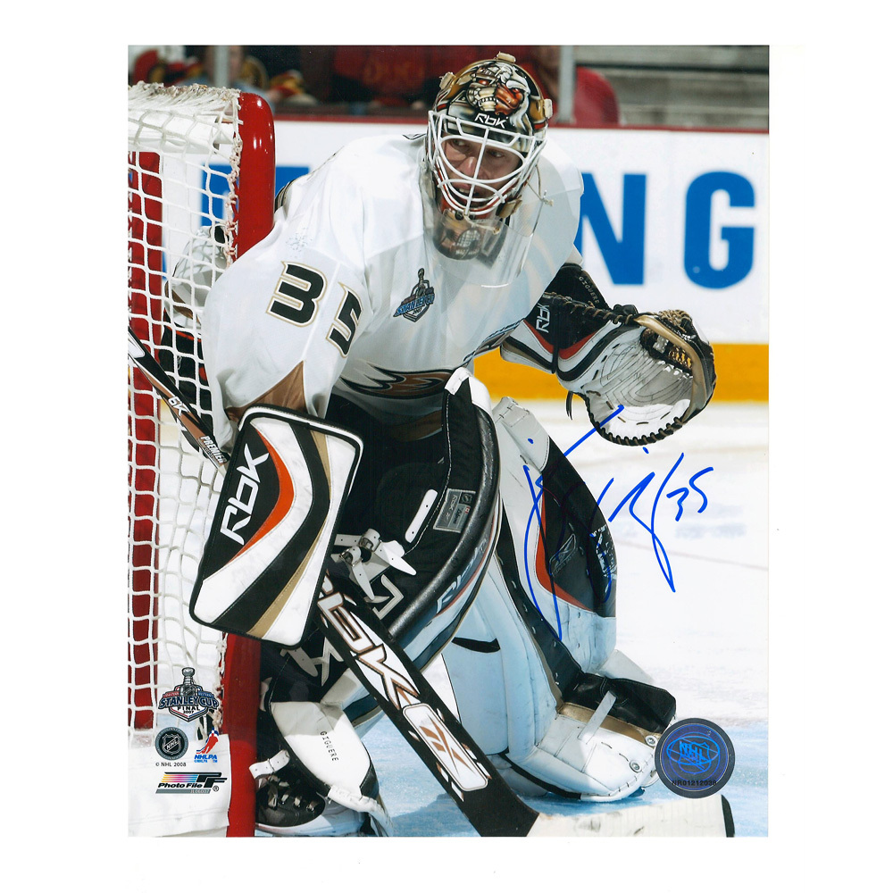 J. S. GIGUERE Signed Anaheim Ducks 8 X 10 Photo - 70174