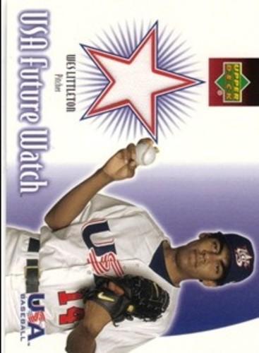 Photo of 2002 Upper Deck Rookie Update USA Future Watch Swatches #WL Wes Littleton Jersey