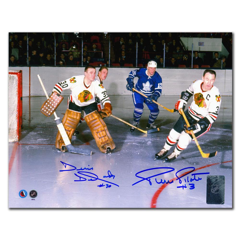 Denis Dejordy & Pierre Pilote Chicago Blackhawks Dual Autographed 8x10