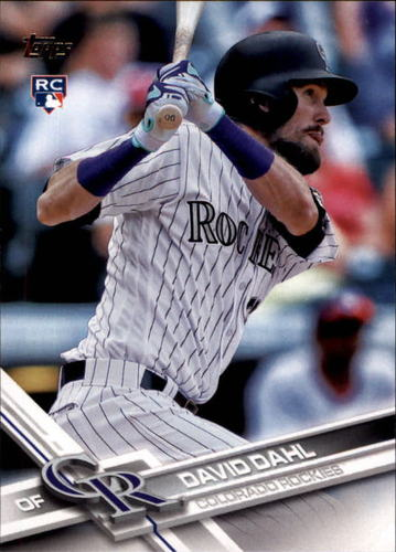 Photo of 2017 Topps #306 David Dahl RC