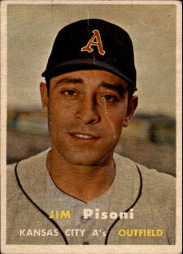 Photo of 1957 Topps #402 Jim Pisoni RC