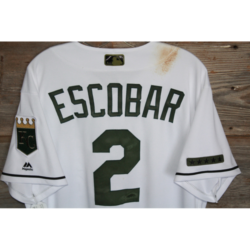 Photo of Game-Used Alcides Escobar Memorial Day Jersey (Size 46) (5/29/17 DET @KC)
