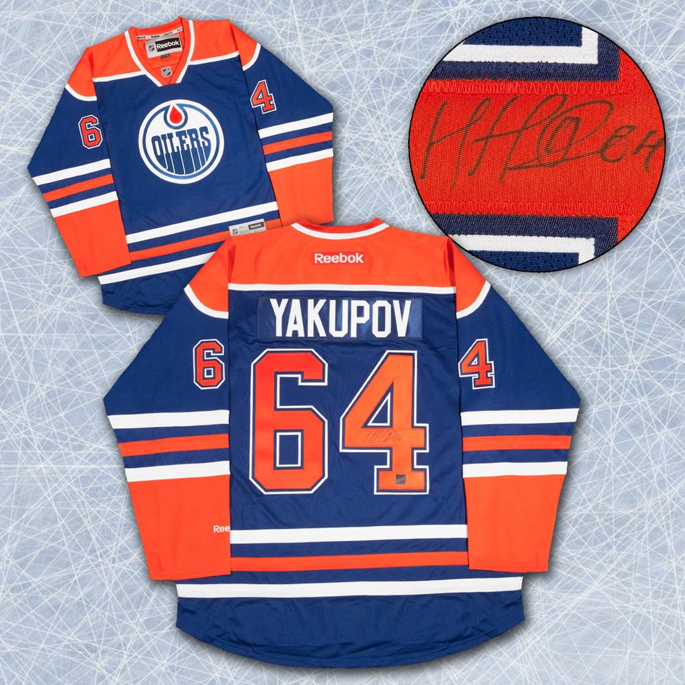NAIL YAKUPOV Edmonton Oilers SIGNED Reebok Premier Hockey Jersey
