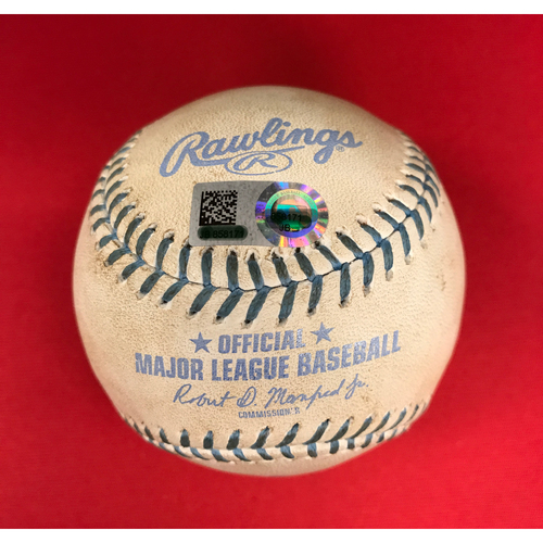 Photo of Bronson Arroyo -- Game-Used Father's Day Baseball-From Arroyo's Final Major League Game of 16-Year Career -- Joey Votto (Ball) -- Reds vs. Dodgers on June 18, 2017