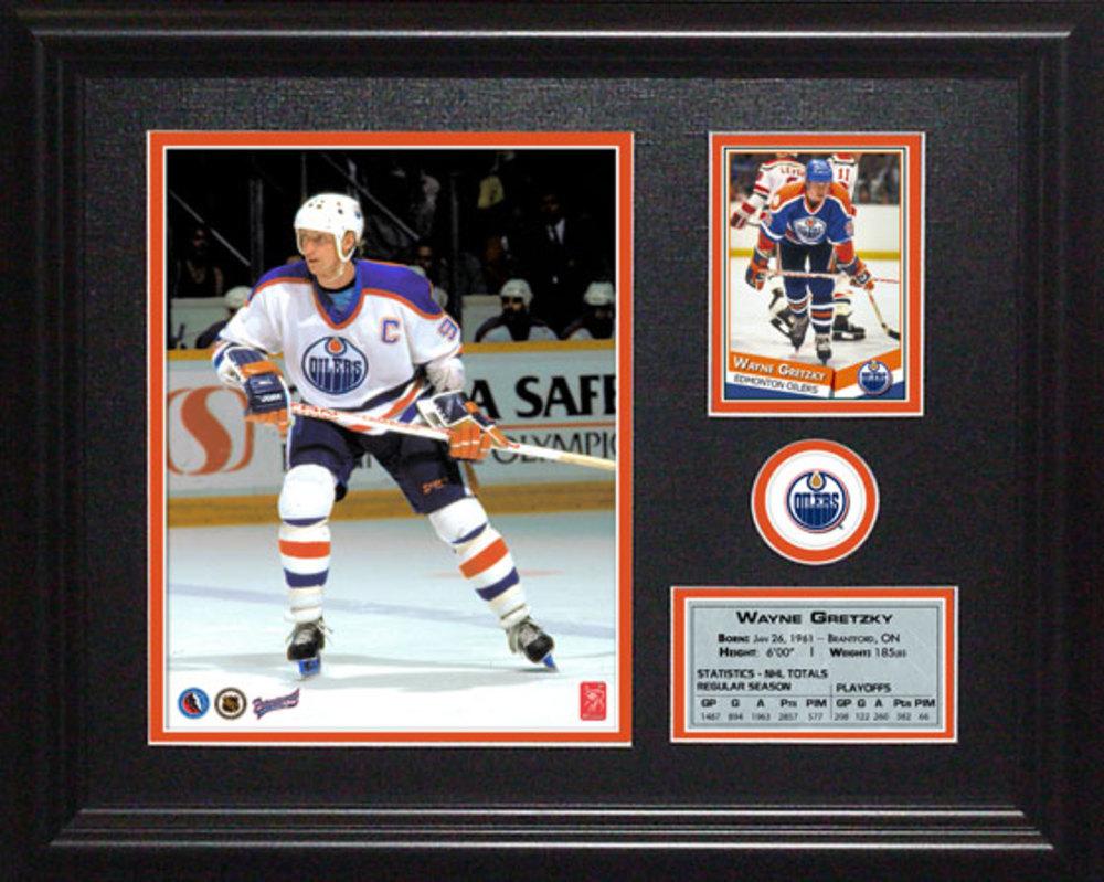 Wayne Gretzky - Framed Edmonton Oilers Photocard