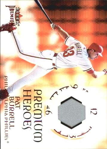 Photo of 2001 Fleer Premium Heroes Game Jersey #1 Pat Burrell
