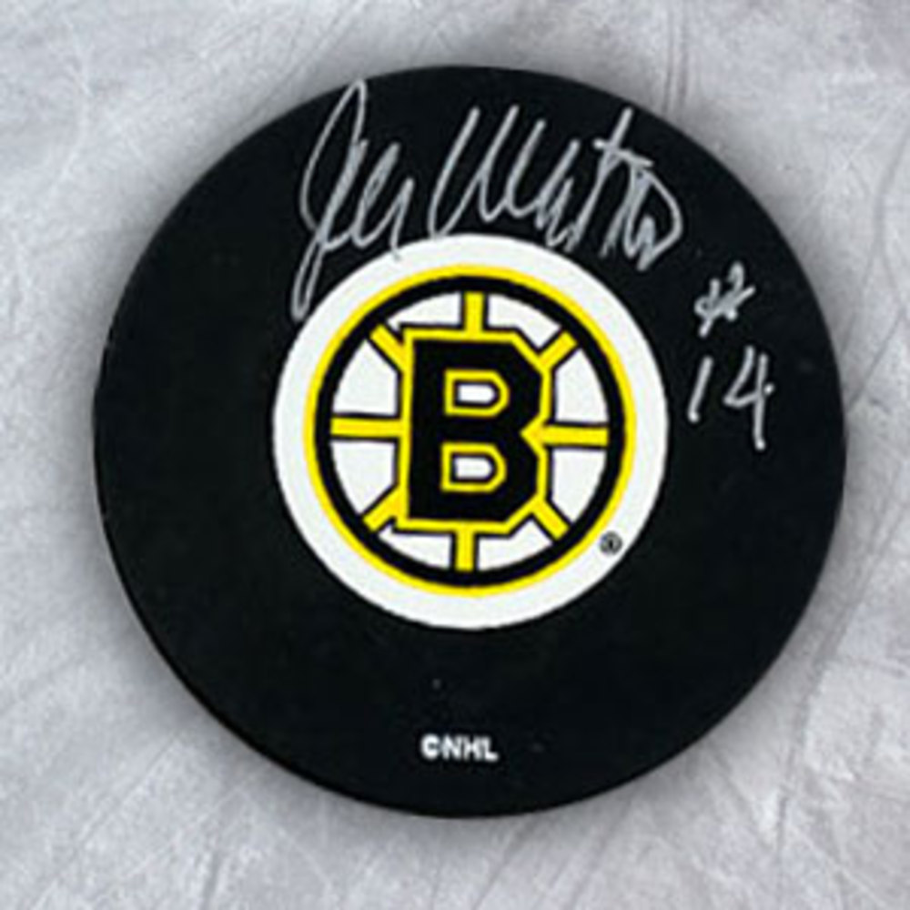 Joe Watson Boston Bruins Autographed Hockey Puck