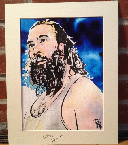 Luke Harper Signed Painting by Rob Schamberger