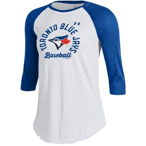 Toronto Blue Jays Women's Baseball 3/4 Raglan White/Royal by Under Armour