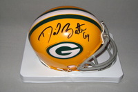 NFL - PACKERS DAVID BAKHTIARI SIGNED PACKERS MINI HELMET