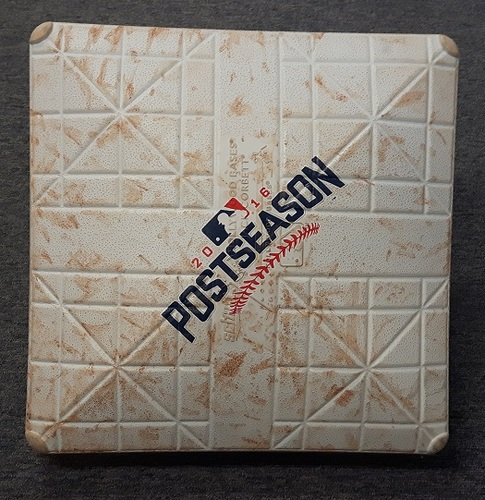 Photo of Authenticated Game Used Base from 2016 ALCS Game 4 (Innings 3-4) - Donaldson HR off Kluber in 3rd