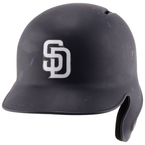 Photo of San Diego Padres Game-Used #2 Navy Helmet used during the 2016 Season