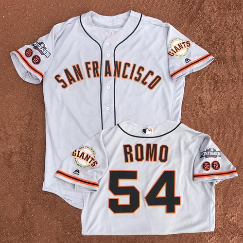 Photo of San Francisco Giants - Game-Used - 2016 Postseason Road Jersey - Sergio Romo #54 - (size 44)