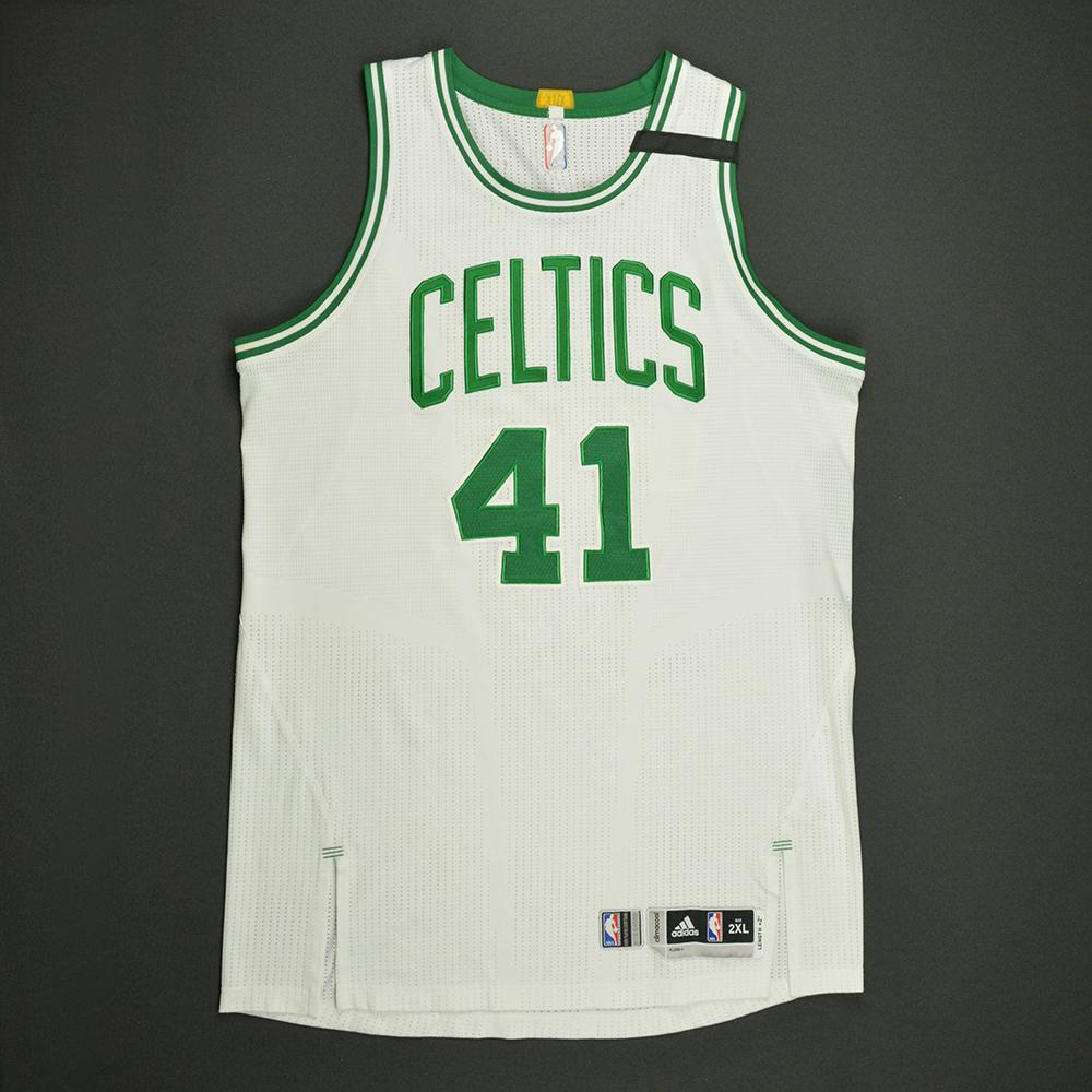 Kelly Olynyk - Boston Celtics - White Playoffs Game-Worn Jersey - 2016-17 Season