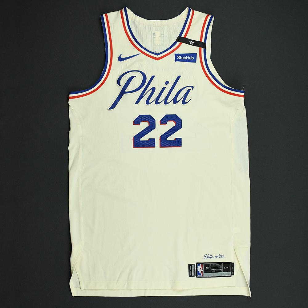 Richaun Holmes - Philadelphia 76ers - 2018 NBA Playoffs Game-Worn City Jersey - Dressed, Did Not Play
