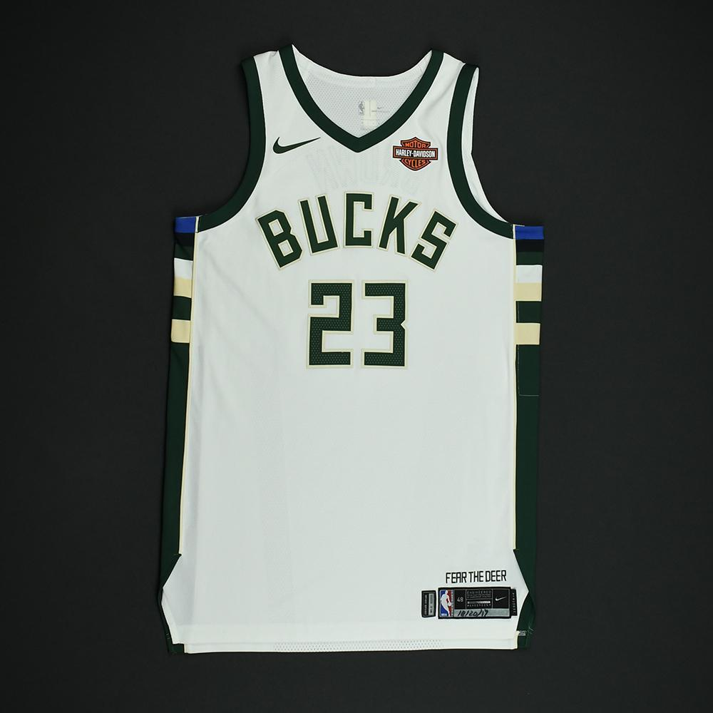 Sterling Brown - Milwaukee Bucks - Game-Worn Rookie Debut Jersey - 2017-18 Season