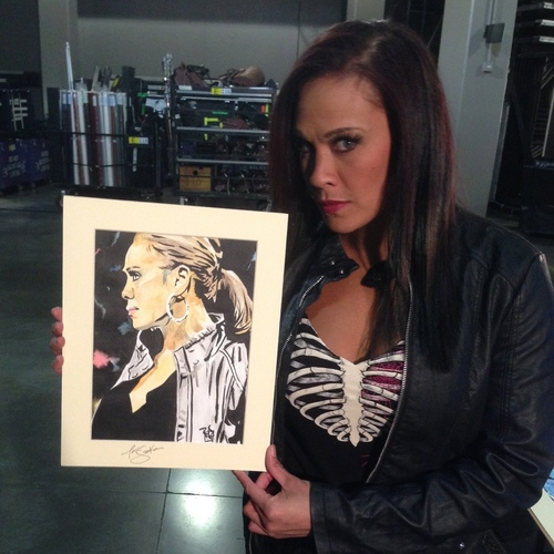 Tamina Snuka Signed Painting by Rob Schamberger
