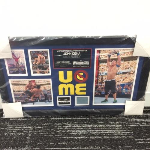 Photo of John Cena WrestleMania 31 Signed Commemorative Ring Canvas Framed Collage (#1 of 500)