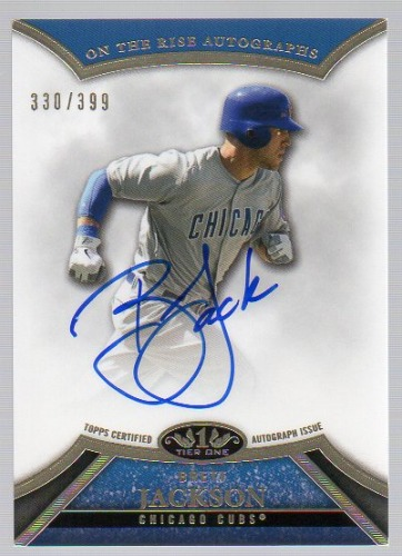 Photo of 2013 Topps Tier One On the Rise Autographs #BJ2 Brett Jackson/399