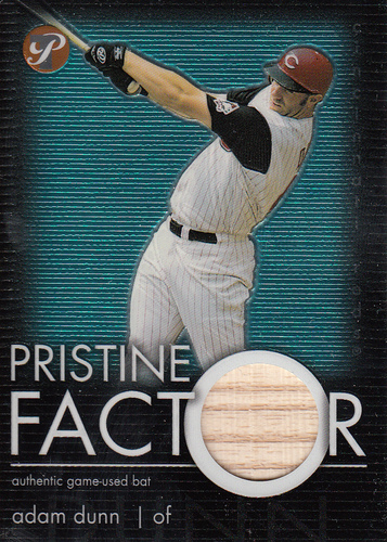 Photo of 2003 Topps Pristine Factor Bat Relics #AD Adam Dunn