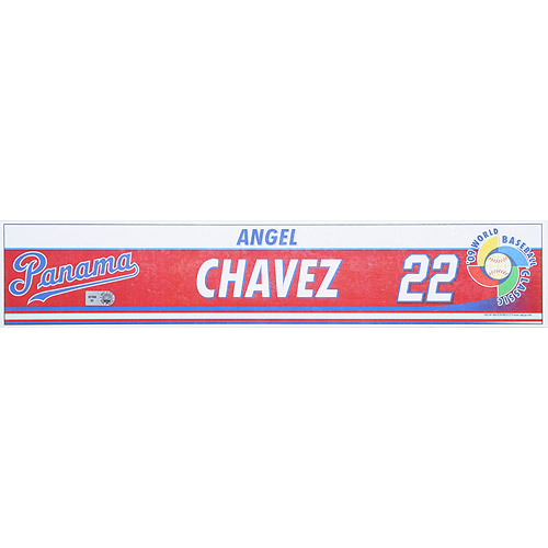 Photo of 2009 World Baseball Classic: Angel Chavez (PAN) Game-Used Locker Name Plate