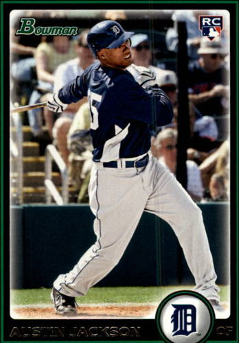 Photo of 2010 Bowman #198 Austin Jackson Rookie Card -- Indians post-season