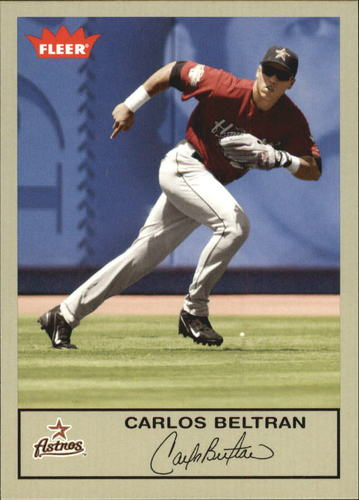 Photo of 2005 Fleer Tradition Gray Backs #87 Carlos Beltran  -- Astros post-season